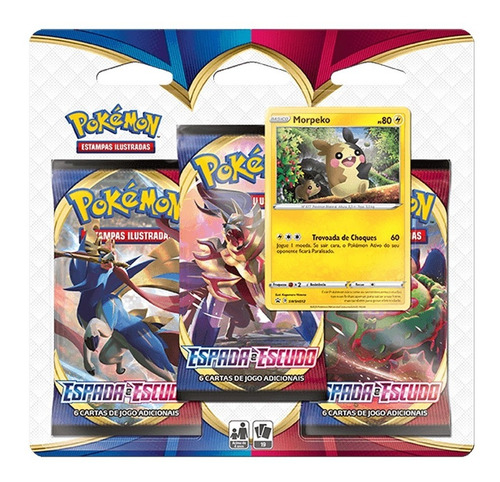 Card Game Pokémon Tcg Espada Escudo Blister Triplo Morpeko