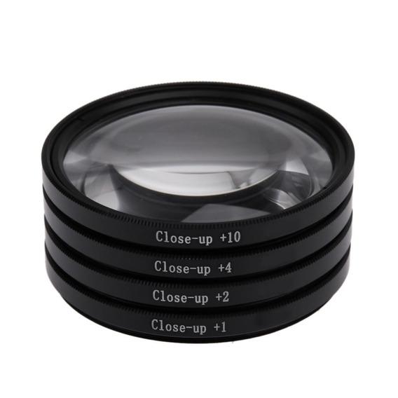 Kit Lente Filtro P/ Macro Fotografia +1 +2 +4 +10 De 82mm