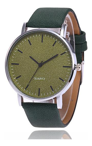 Relógio Unissex Fashion Matte Grande Mostrador Verde