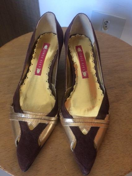 Sapato Marrom E Dourado Jorge Alex