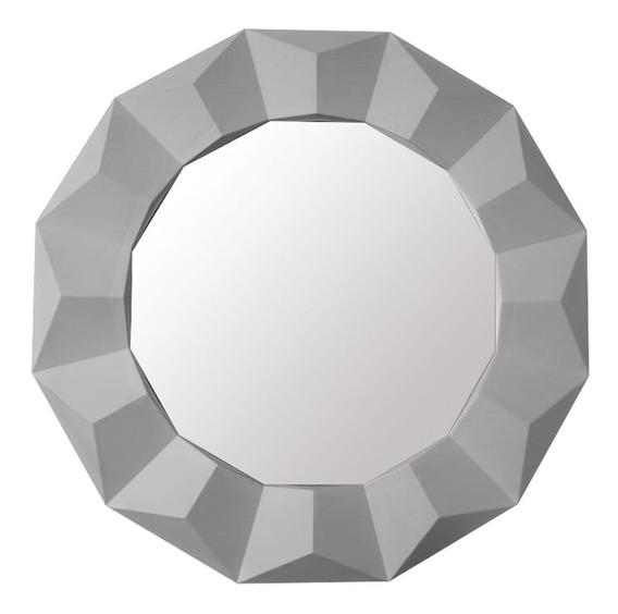 Espelho Decorativo Sala Quarta Decoração Branco 60x60x4cm