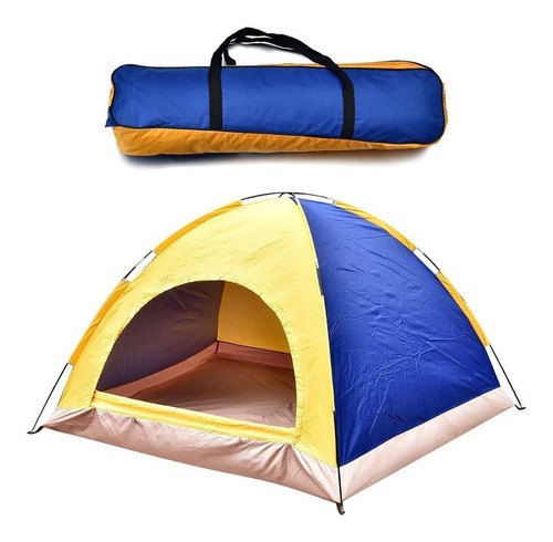Imagen 1 de 8 de Carpa Tienda Camping Plegable Portátil Impermeable - Mweb