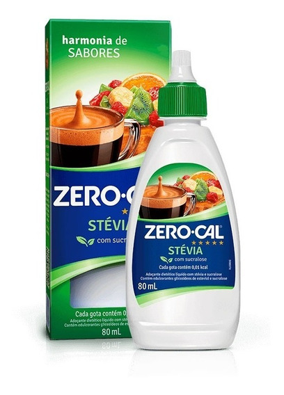 Adoçante Líquido Zero Cal Stevia 80ml