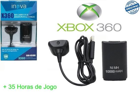 Bateria Xbox 360 Super Forte 10000mah + Carregador Original