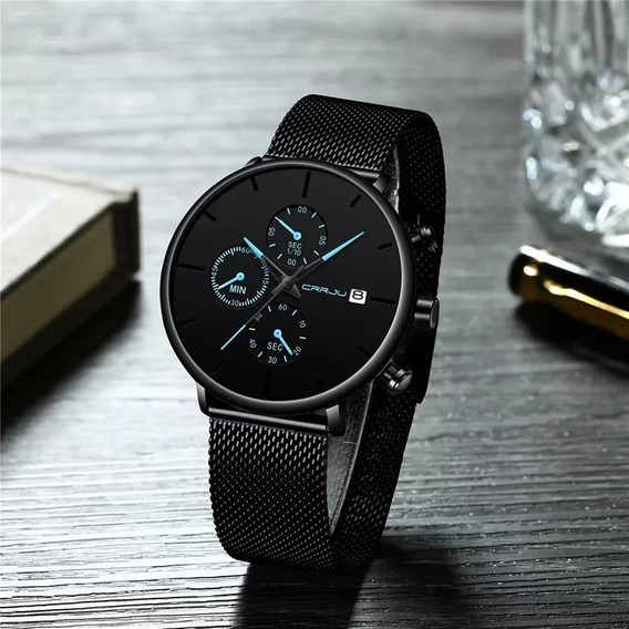 Relógio Masculino Original Luxo Designer Ultra Slim- Frete Grátis