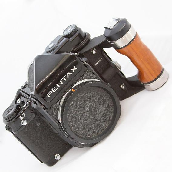 Pentax 67 + Fotometro + Visor Sport+105mm+55mm+75mm+grip