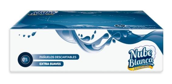 Pañuelos Descartables Extra Suaves 75 Unidades Pack X 10