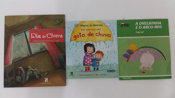 Livro Dia De Chuva A Ovelhinha E O Arco-íris Kit 3 Un
