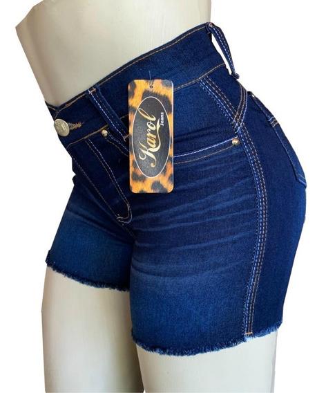 Short Jeans Feminino Cintura Alta Barato Kit Com 3