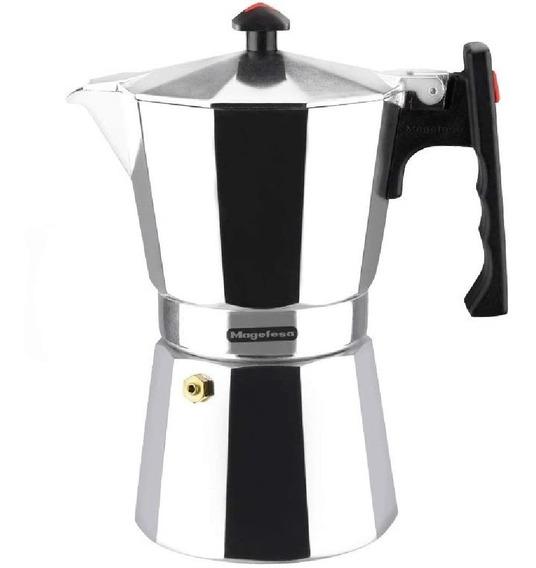 Cafetera Italiana Moka 6 Tazas Aluminio Express Magefesa