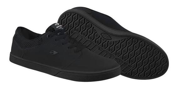 Tênis Mormaii Neo Couro Skate Preto Monocromático 203200