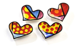 Set De 4 Figuras Mini Corazones Britto
