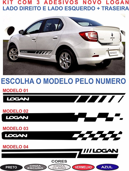 Kit Faixas Lateral E Traseira Renault Logan Sport Adesivos