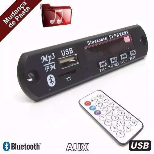 Kit Com 10 Placa Decodificador Troca Pasta Mp3 Bluetooth