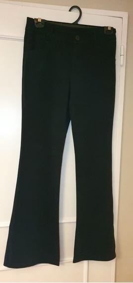 Pantalón Negro De Crepe De Vestir Super Caida Elastizado.
