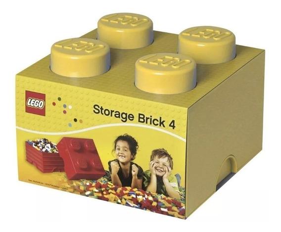 Lego Caixa Organizadora Original Baú Armazenamento Amarelo