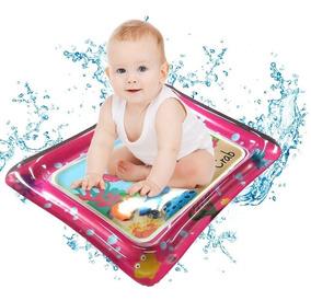 Tapete Água Rosa Inflável Atividades Almofada Infantil Bebê