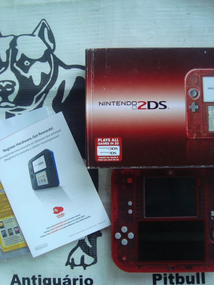 Nintendo 2 Ds Edição Especial Crystal Red
