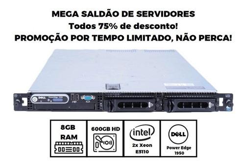 Imagem 1 de 6 de Servidor Dell Power 1950 2x Xeon-e5110 - 8gb - 2x 300gb