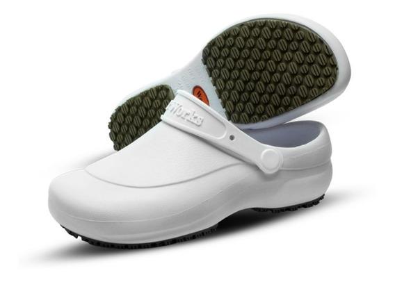 Sapato Medicina Enfermagem Gastronomia Branco Antiderrapante