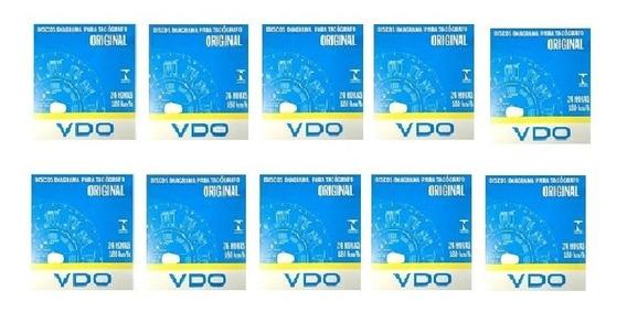 Discos Tacógrafo 24 Hrs 125 Km/h - Vdo Cx C/100 Kit 10 Cx