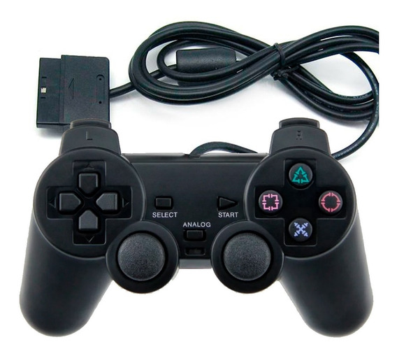 Controle Joystick Playstation 2 Plug Ps2 Analogic Game