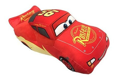 Imagen 1 de 1 de Disney Pixar Cars 3 Felpa Rellena Rayo Mcqueen Almohada Roja