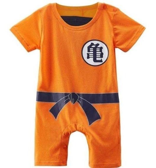 Body Infantil Goku Bebê 100% Algodão Maravilhoso Promoção