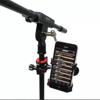Soporte De Celular Para Base De Micrófono O Atril De Batería