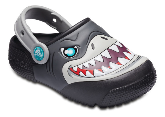 Crocs Originales Fun Lab Luces Clog Negro Nene Nena