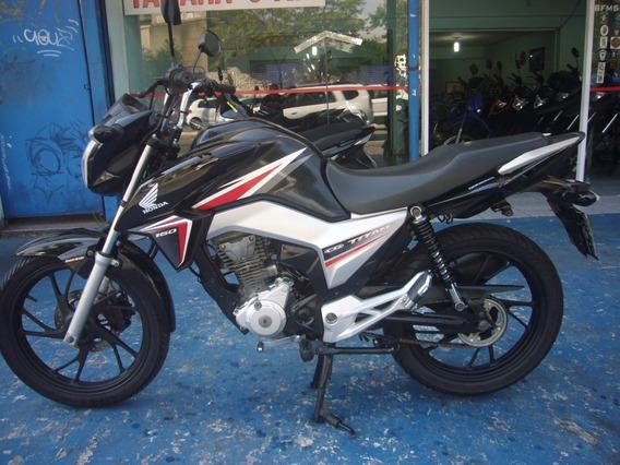 Honda Cg 160 Titan Ex Ano 2016 Preta Combi Brake