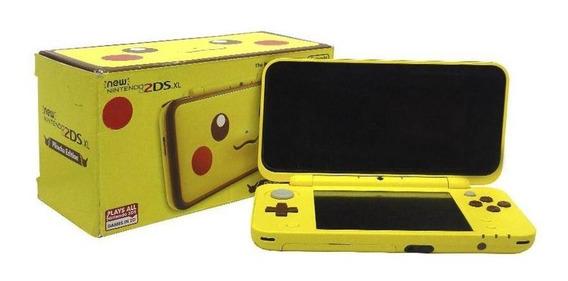 Console New Nintendo 2ds Xl Edição Pikachu Nintendo