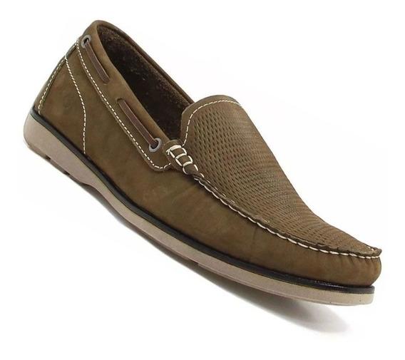 Sapato Democrata 135102004 Mocassim Couro + Brinde Exclusivo