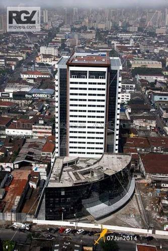 Sala Comercial Para Locação, Centro, Santos. - Sa0043