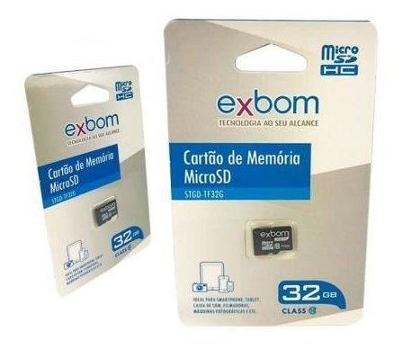 Cartão Memoria Micro Sd Exbom Classe 10 32gb