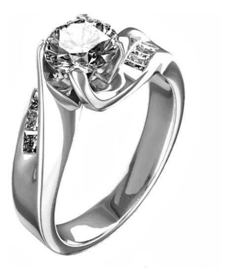 Anillos De Compromiso 18kt .54ct Totales Diamantes Marloz