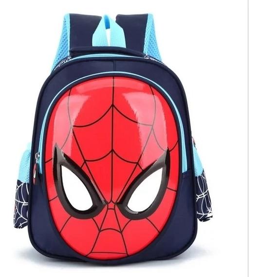 Mochila Infantil Criança Homem Aranha Impermeável Escolar 3d