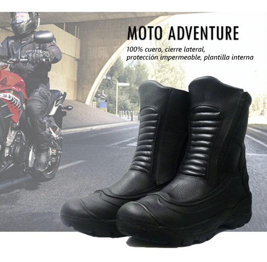 Botas Moto Cómodas Y Seguras: Cuero-impermeables-plantilla