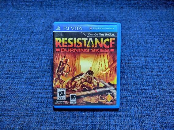 Resistance Burning Skies Ps Vita Psvita Mídia Física Completa