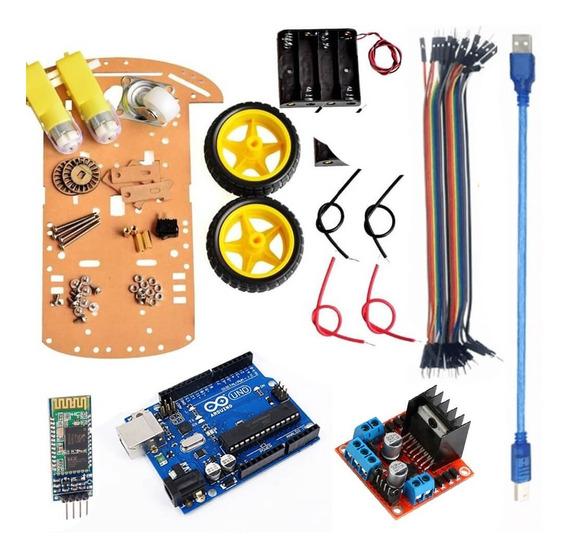 Kit Carrinho Robô Bluetooth Completo Arduino Compatível