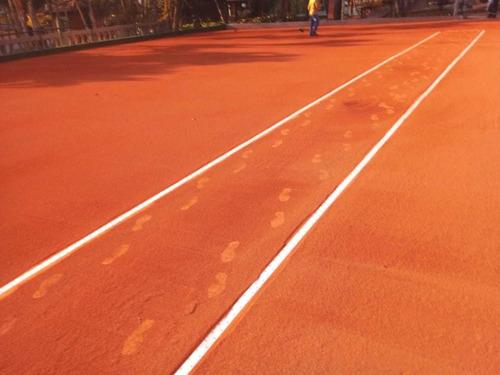 Imagem 1 de 4 de Faço Quadras De Tênis Saibro E  Manutenção