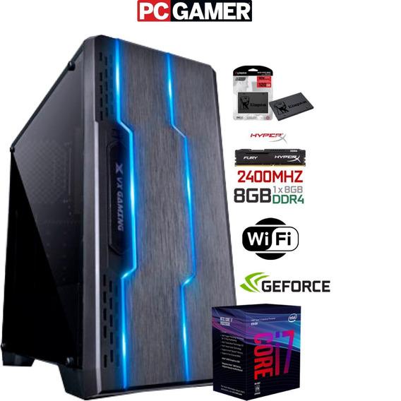 Gamer I7 8700 8ª 4.6 Gen / Gtx 1050ti 4gb / 8gb Hyperx / Ssd