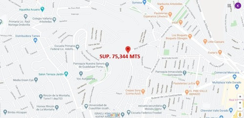 Terreno Hab Hacienda De Mayorazgos Atizapan Sup. 75,344 Mts