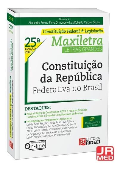 Constituição Da República Federativa Do Brasil Rideel