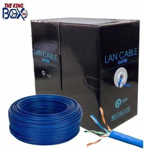Bobina De Cable Gio Utp Cat5e 305mts Cable Azul 70/30