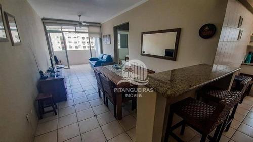 Pitangueiras - 03 Quadras Da Praia - 02 Dormitórios + Dependência -  01 Vaga. - Ap1950