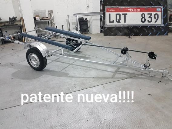 Trailer Para Lancha Jet ,moto De Agua Semirrigido Patentable