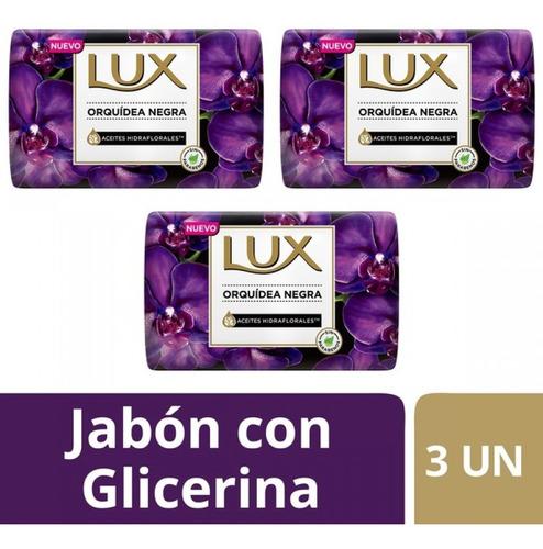 Jabon Lux Orquidea Negra X 3 Unidades X 125 G