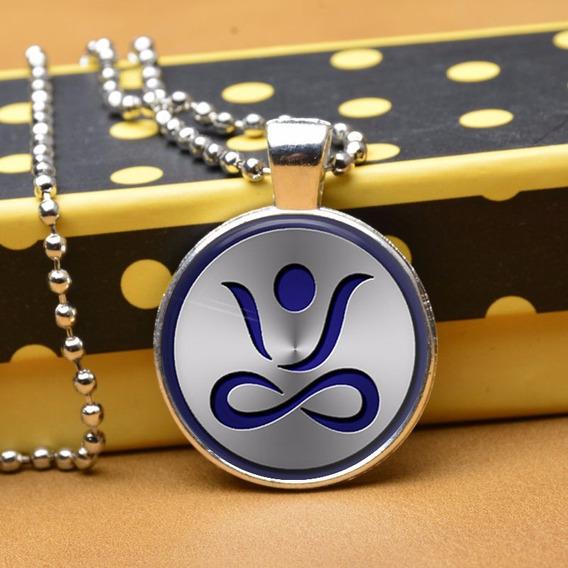Colar Místico Yoga Azul Reiki Buda Equilíbrio Meditação