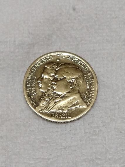 Moeda 1000réis Comemorativa Centenário Independência